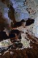 Cova Tallada, pont cap a l'interior.JPG