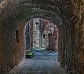 Covered walkway at Avenue de la Tour in Clairvaux-d'Aveyron 03.jpg