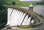 Craig Coch Dam and valve tower, Elan Valley