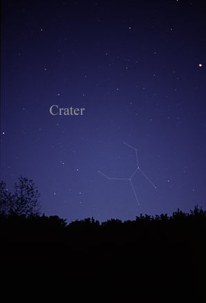 Crater (constellation) - The constellation Crater as it can be seen by the naked eye.
