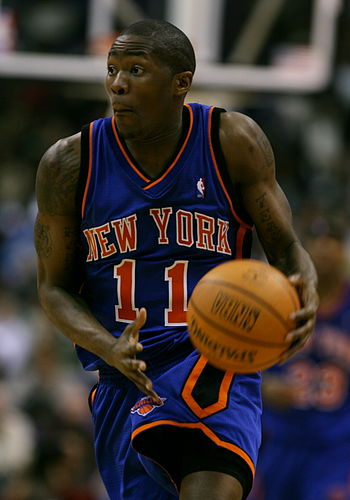 English: Jamal Crawford playing with the New Y...