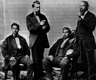 Blood quantum laws - Members of the Muscogee (Creek) Nation in Oklahoma around 1877, including some with partial European and African ancestry