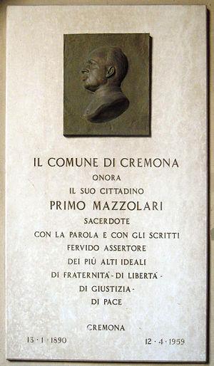 Primo Mazzolari - Image: Cremona Lapide a Primo Mazzolari