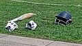 Cricket kit at Walker Cricket Ground, Southgate, London, England 02.jpg