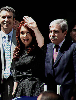Cristina Fernández de Kirchner - Kirchner on election night.
