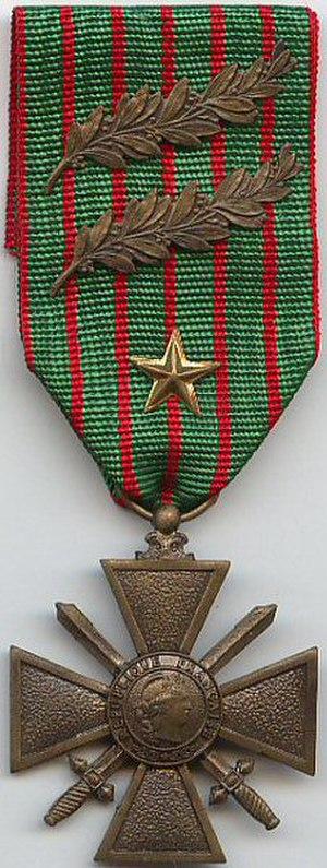 Croix de guerre 1914–1918 (France) - Image: Croix de Guerre 1914 1918
