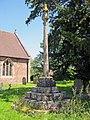 Cross in Bitterley churchyard (geograph 2215579).jpg