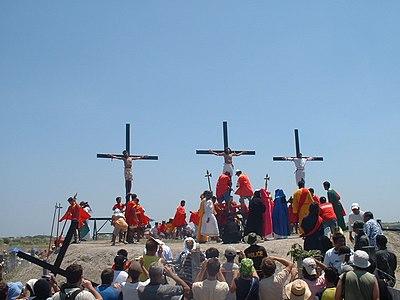 Devotional crucifixion in San Fernando, Pampanga, Philippines, easter 2006