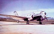 Curtiss C-46D Commando on a South Korean airstrip