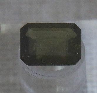 Ekanite - A Cut crystal of Ekanite