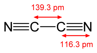 Triple bond - Image: Cyanogen 2D dimensions