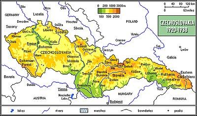 Czechoslovakia 1920-1938, physical