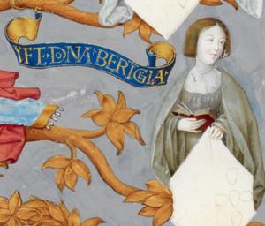 Berengaria of Portugal - Infanta Berengaria, in Antonio de Hollanda's Genealogy of the Royal Houses of Spain and Portugal (1530-1534)