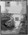 DETAIL OF CELLAR ENTRY ON EAST - A. B. Jackson House, State Trunk Highway 50, Bristol, Kenosha County, WI HABS WIS,30-BRIS,1-9.tif