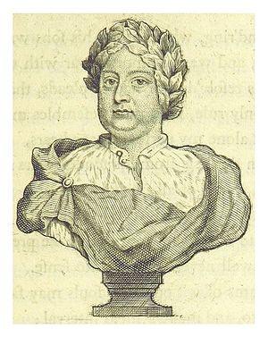 Mac Flecknoe - Bust of Mac Flecknoe from an 18th century edition of Dryden's poems