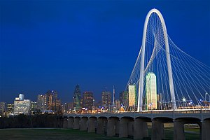 Dallas bridge skyline