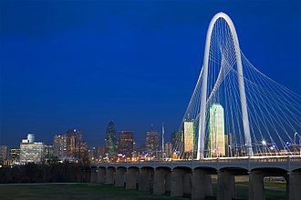 Dallas - Named after Dallas philanthropist, the Margaret Hunt Hill Bridge spans the Trinity River