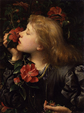Ellen Terry - Choosing: painting by first husband, George Frederic Watts, c. 1864