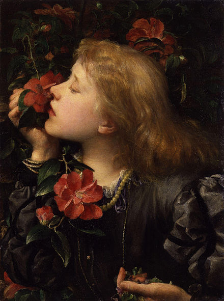 English stage actress Ellen Terry was married at age 16 to George Frederic Watts who was 46 years old, a marriage her parents thought would be advantageous; later she said she was uncomfortable being a child bride. Terry died at the age of 81, in 1928. Dame (Alice) Ellen Terry ('Choosing') by George Frederic Watts.jpg