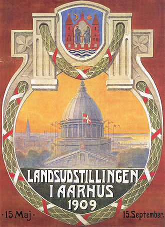 Danish National Exhibition of 1909 - Official poster by Valdemar Andersen