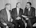 David Dubinsky, Charles Zimmerman, and Averell Harriman talk quietly during the Silver Jubilee Convention. (5279156603).jpg