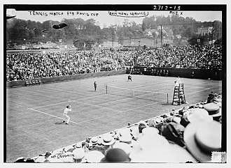 1913 International Lawn Tennis Challenge - Davis Cup 1913 quarterfinal at the West Side Tennis Club, New York - Rice (Australasia) against McLoughlin (United States)