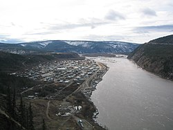 Vista aérea de Dawson City