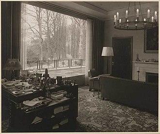 Soestdijk Palace - Image: De werkkamer van Prins Bernhard 1938