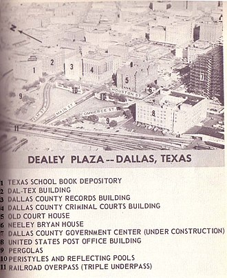 Dealey Plaza - Warren Commission diagram of plaza