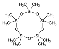 Skeletal formula of decamethylcyclopentasiloxane