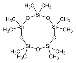 Struktur von Decamethylcyclopentasiloxan