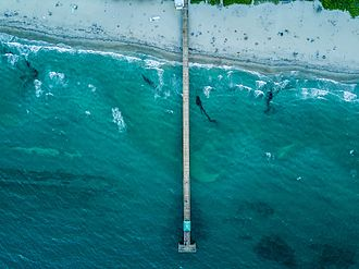 Deerfield Beach, Florida - Deerfield Beach pier from above
