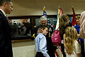 Defense.gov News Photo 110411-A-VO565-018 - Chief of Staff of the Army Gen. George Casey Jr. embraces his grandson at the conclusion of his retirement ceremony in the Pentagon on Apr. 11.jpg