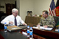Defense.gov News Photo 110604-D-XH843-025 - Secretary of Defense Robert M. Gates meets with ISAF Commander Gen. David Petraeus in Kabul, Afghanistan, on June 4, 2011.jpg