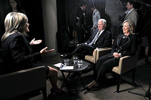 Cynthia McFadden - McFadden (left) interviewing Robert Gates and Hillary Clinton