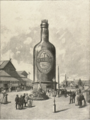 Den nordiske Industri-, Landbrugs- og Kunstudstilling 1888, Tuborgflasken med elevatoren.png