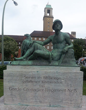 5th Guards Grenadiers - A memorial to the soldiers of the regiment in Spandau