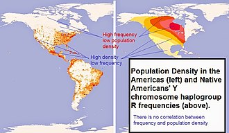 Genetic history of indigenous peoples of the Americas - Image: Density and frequency haplogroup R