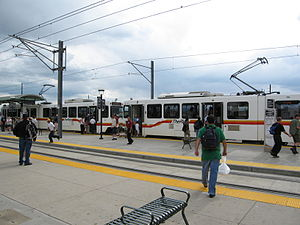 Transportation Expansion Project - Image: Denver I25&Broadway Station
