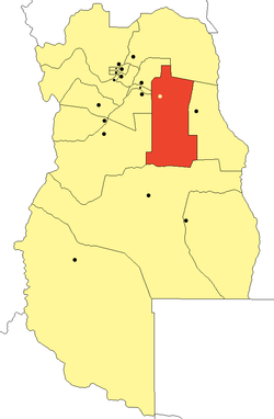 location of Santa Rosa Department in Mendoza Province