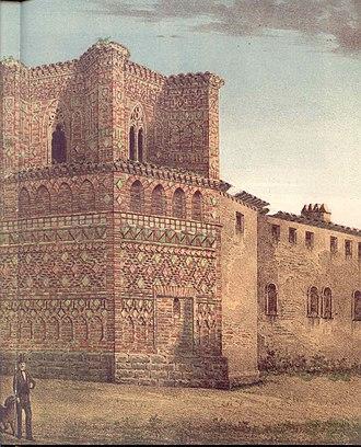 Iglesia de San Pedro Mártir (Calatayud) - Mudéjar detail of the back facade.