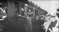 Deutsche Kriegszeitung (1914) 01 07 5, Botschafter Gerard verabschiedet sich von seinen Landsleuten.png