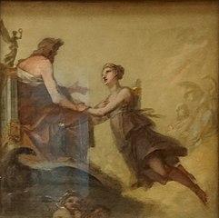 Diane implorant Jupiter de ne pas l'assujettir aux lois de l'hymen