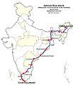 Dibrugarh - Kanyakumari Vivek Express Route map.jpg