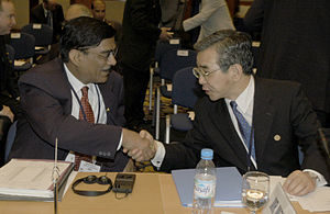 Finance Secretary - Indian Finance Secretary Dinesh Gupta and Zembei Mizoguchi, 2003