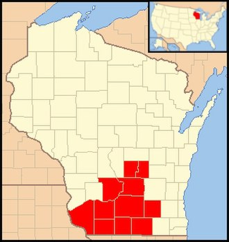 Roman Catholic Diocese of Madison - Image: Diocese of Madison (Wisconsin) map 1