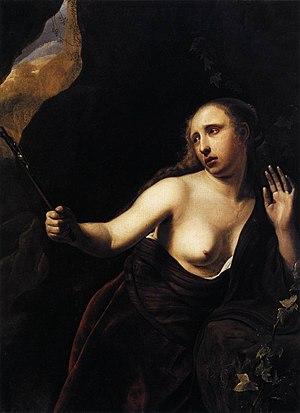 Marie Jonas de la Motte - The Penitent Mary Magdalene by Dirck Bleker, with Marie Jonas de la Motte as model for Mary Magdalene.