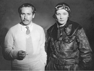 Josef von Sternberg - Josef von Sternberg and Marlene Dietrich as Agent X-27 on the set of Dishonored.