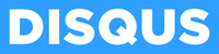 Disqus logo official - white on blue background.png