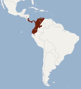 Distribution of Lonchophylla robusta.png